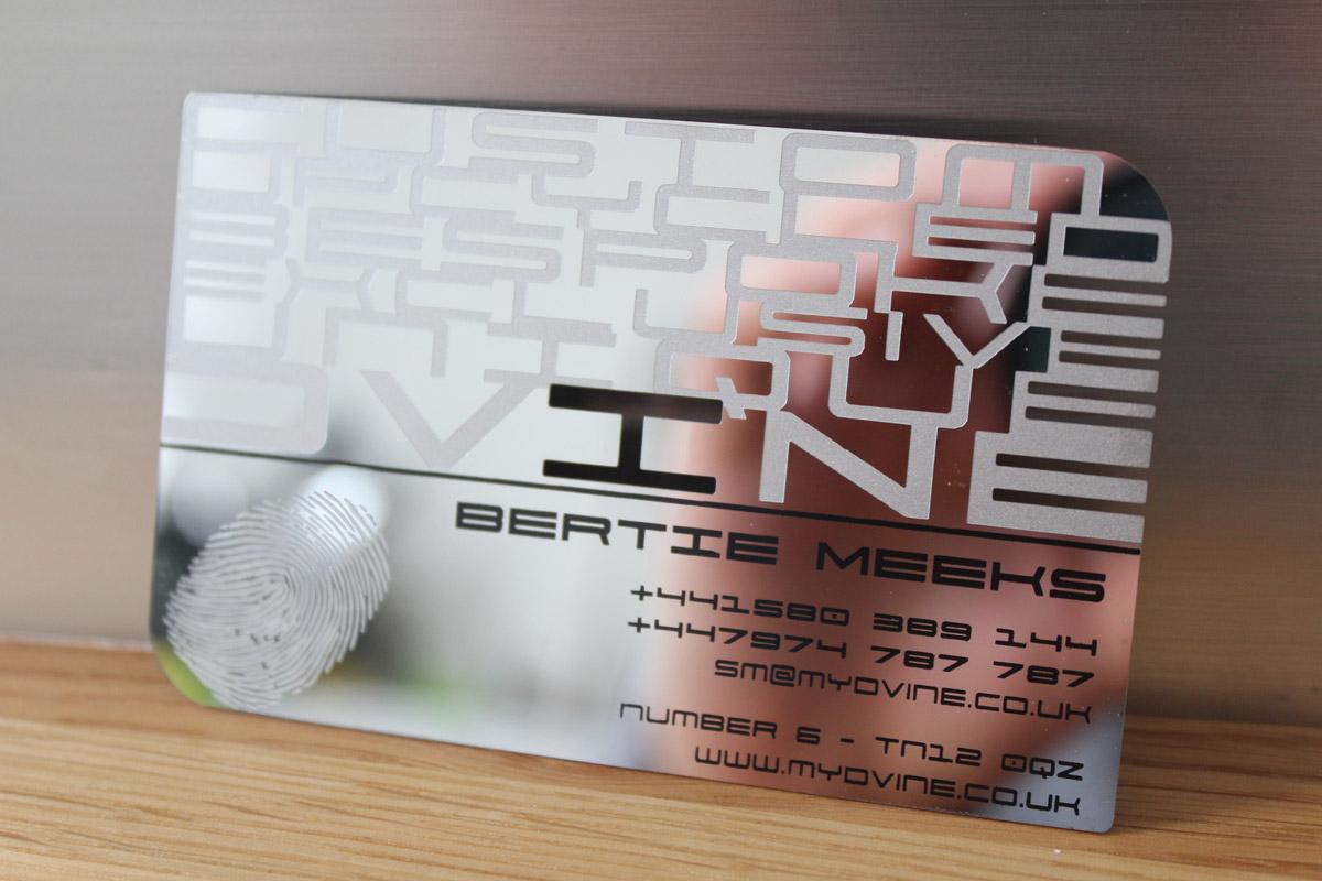 laser cut metal business cards